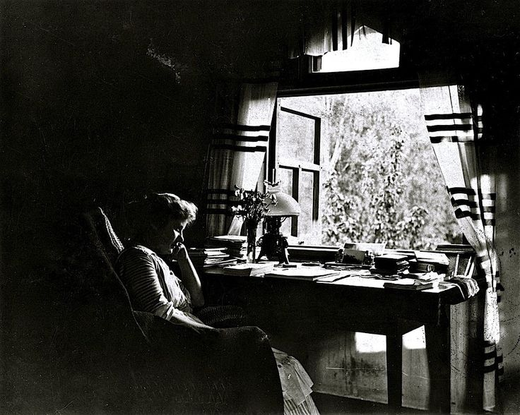 Life in gardens/enclos*ure: from the window -- Finland, ca. 1920, by Edith Sodergran.