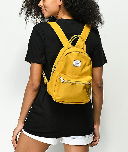5c244369eda Herschel Supply Co. Nova Arrowhead Yellow Mini Backpack