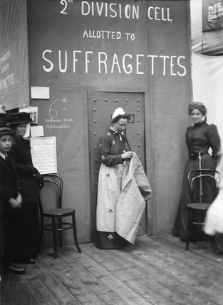 Suffragette prison stand at The Womens Exhibition:1909, Christina Broom