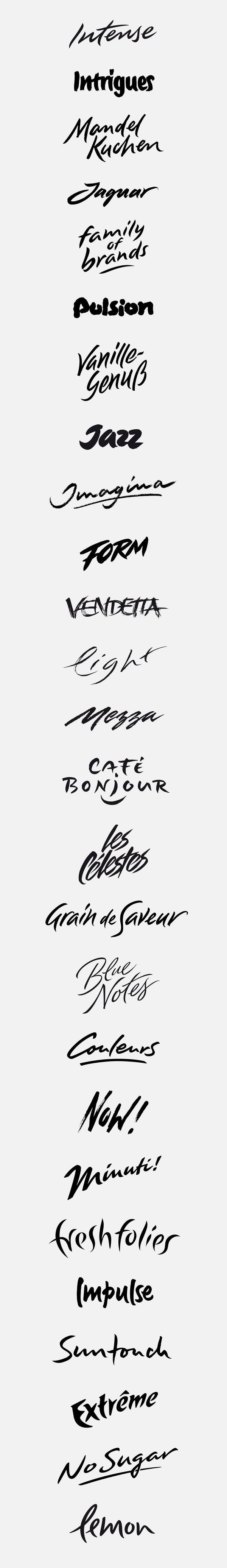 logotypes: expressiv, dynamic by Peter Becker, via Behance
