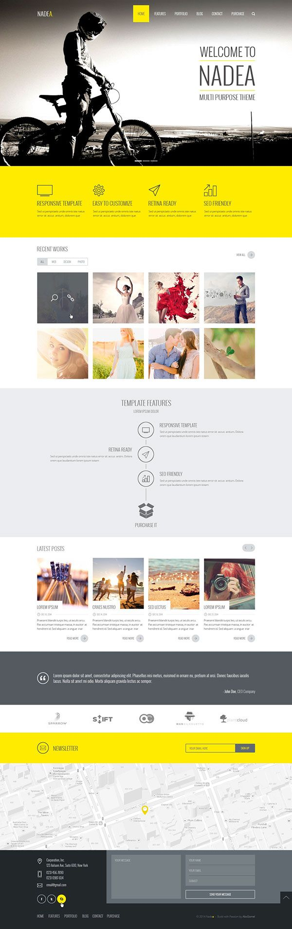 Nadea – Multipurpose PSD Template on Web Design Served