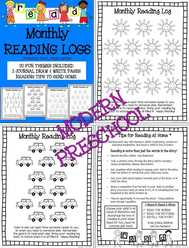 Best  Kindergarten Reading Log Ideas On   Reading
