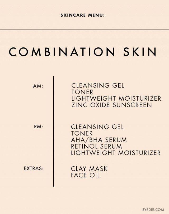 Das genaue Schema, das Sie für Ihren Hauttyp einhalten sollten