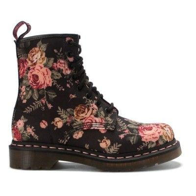 Dr Martens - 1460 Victorian Flowers - Black