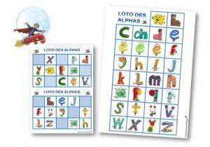 Alphas loto cartes