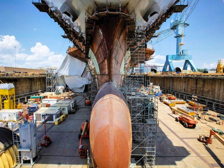 USS Gerald R Ford Newport New Shipbuilding 40 USS GERALD R. FORD: Check Out The Construction Of The Most Expensive Ship Ever http://www.businessinsider.com