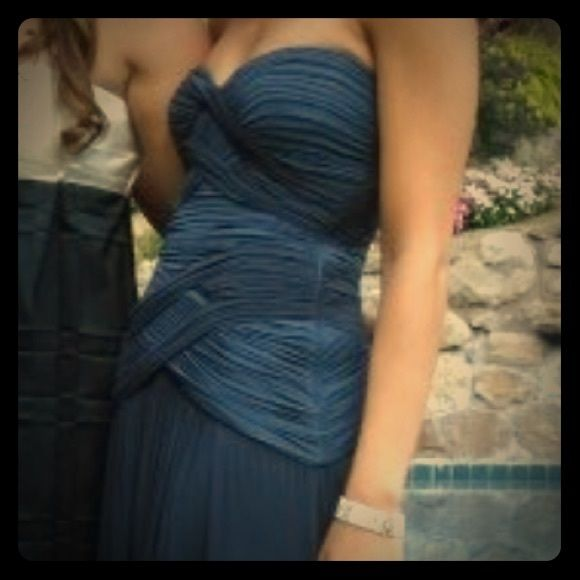 BCBG navy gown Gorgeous navy gown, worn one time only BCBG Dresses Prom