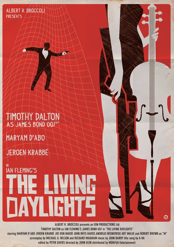 The Living Daylights - James Bond Movie Posters Reimagined In The Style Of Saul Bass