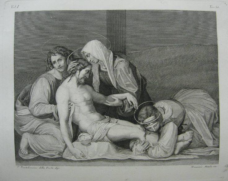 Le Christ Mott [Смерть Христа] de Fra Bartolommeo // Galerie du Palais Pitti... - Florence: 1842-1845 #antiquebook #devisu #gravure
