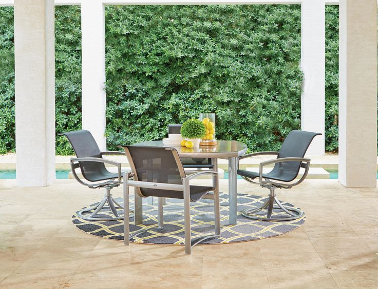 A Chic Patio Dining Set Turns Your Backyard Barbecue Into Five Star Fare.  Sleek