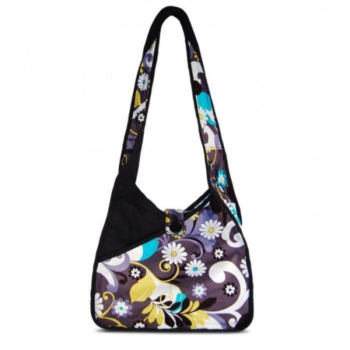 Susan Nichole Vegan Handbag Lily in Charcoal & Daisies