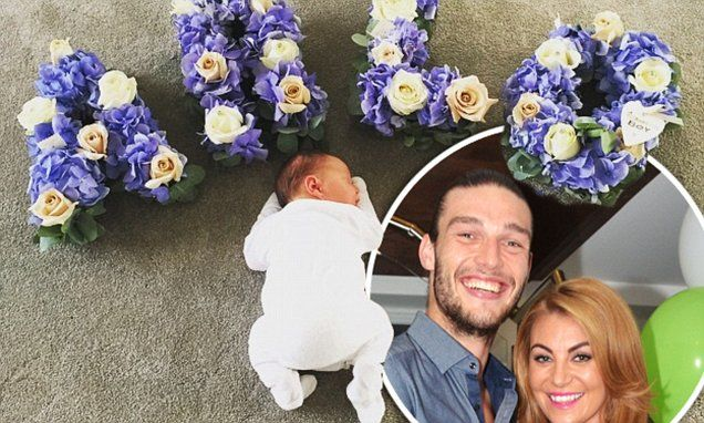 Billi Mucklow and fiance Andy Carroll reveal their baby's name is Arlo