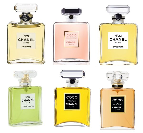 coco chanel perfume bottles