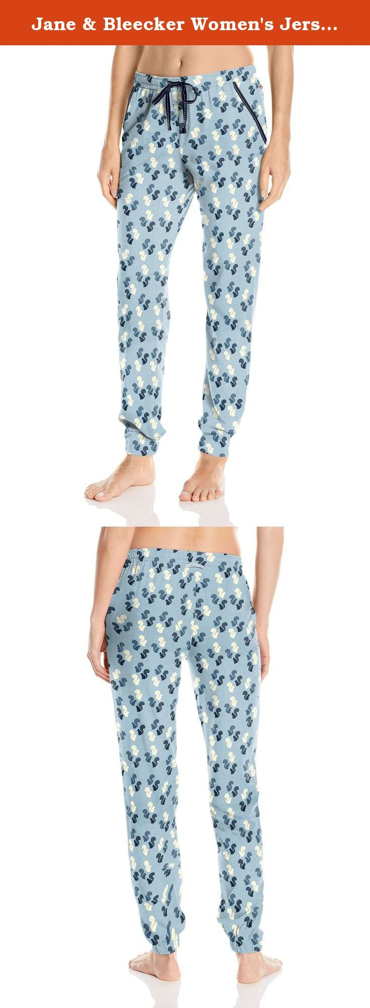 Jane & Bleecker Women's Jersey Pant, Park Squirrel, Large. Comfortably lounge day in and day out while sporting the Jane & Bleecker super soft jersey lounge pant.