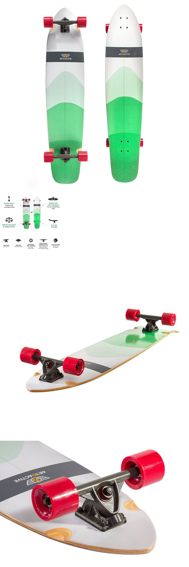 Longboards-Complete 165942: Aeroactive Cruiser Pro Skateboard - 45 Inch Green - Hardwood Maple - New In Box! -> BUY IT NOW ONLY: $39.99 on eBay!