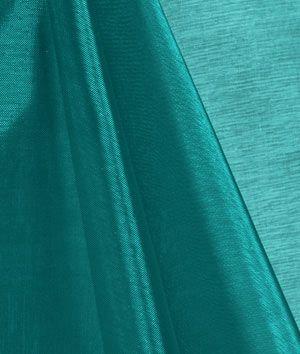 Teal Mirror Organza Fabric - $2.95 | onlinefabricstore.net