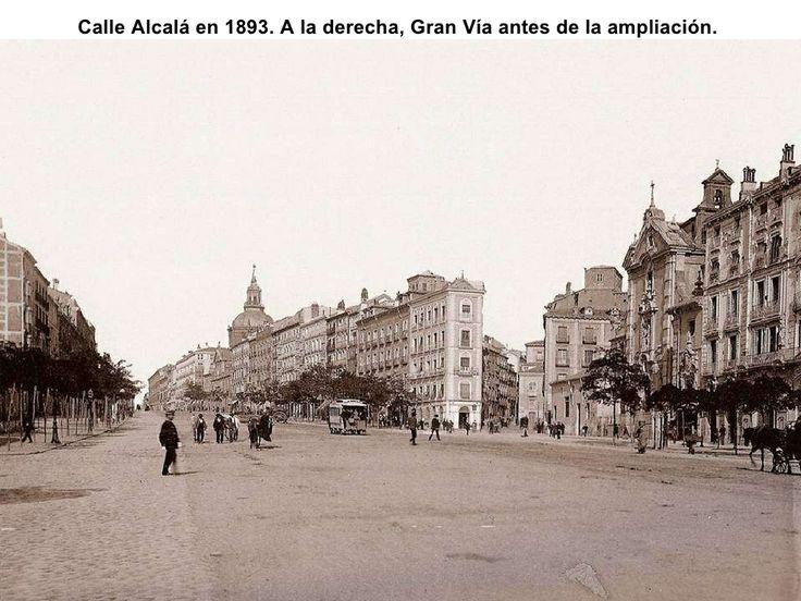 Calle Alcalá, aún sin construir la Gran Vía