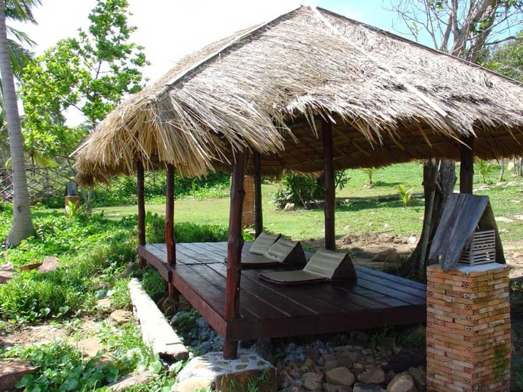 Outdoor massage deck with seaview @ The Beach Natural Resort, Koh Kood