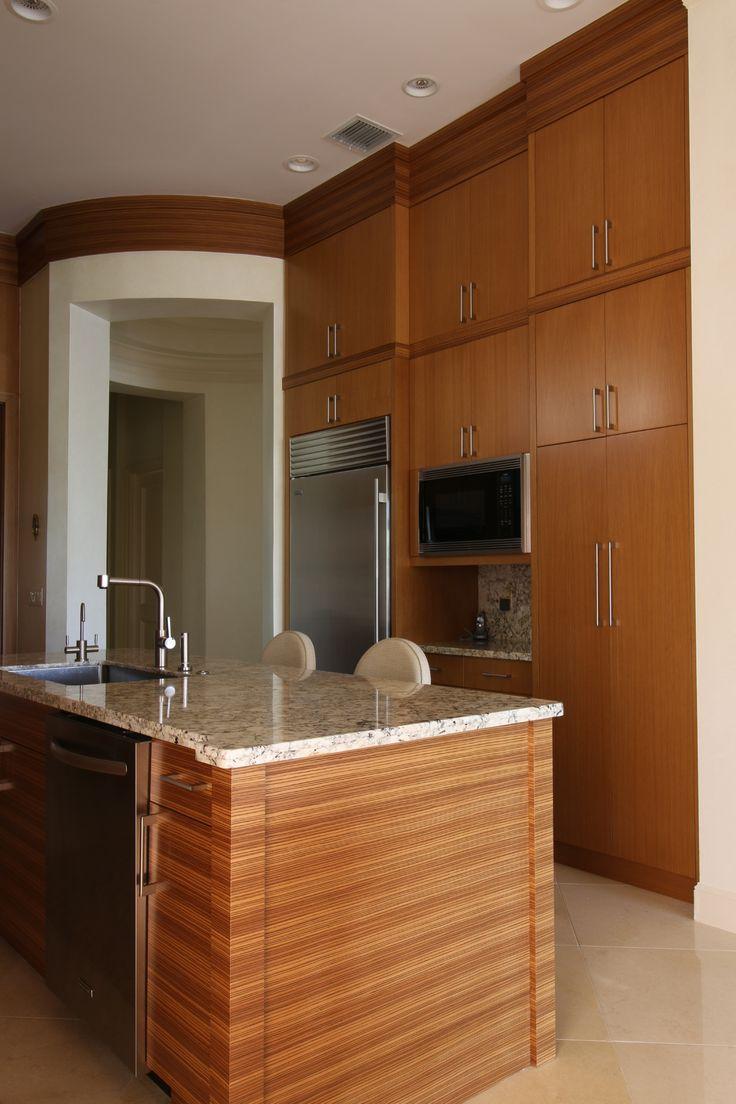 Rift Cut White Oak And Zebra Wood Kitchen Grandillusionswpb
