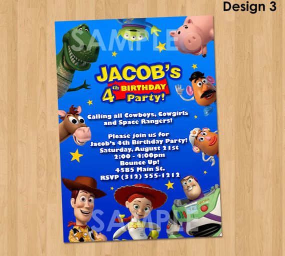 Toy Story Invitation Toy Story Invite by KidsPartyPrintables