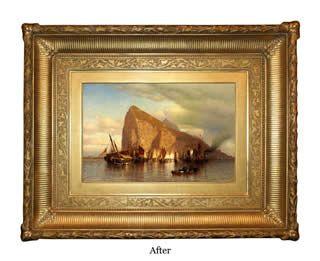 Сэмуел Колман, Очистка Буря на Гибралтар кадра после восстановления