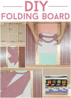 DIY Clothes Folding Board; Have All Your Type-A Dreams Come True With This Folding Board