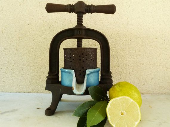 French Antique Fruit Press....Lemon Press...Meat by LeMoulinBleu
