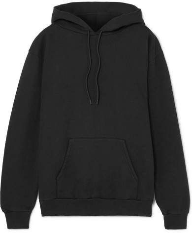 Black Balenciaga Blend Cotton Hooded Appliquéd Sweatshirt rXxXWwZq5E