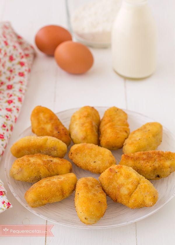 Receta paso a paso para hacer croquetas de jamón. Si te gustan las croquetas caseras, no puedes dejar de preparar esta receta. ¡Deliciosas!