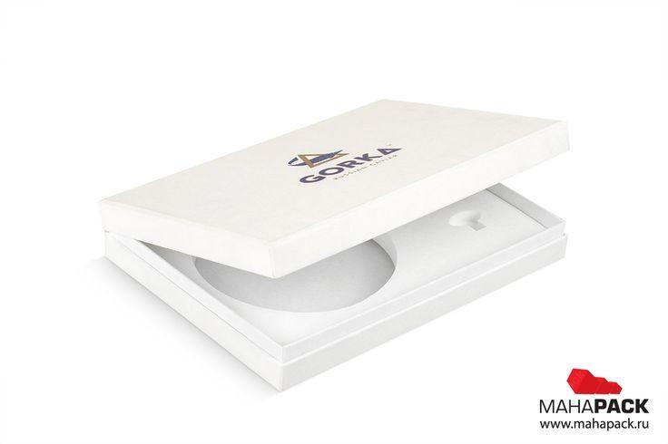 Фирменная коробка-шкатулка с ложементом для банок икры и ключа под заказ | Mahapack.ru - изготовление индивидуальной упаковки