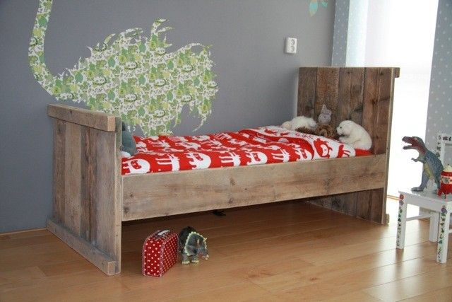 Kinderbed steigerhout diversen maten (12809020) | 1-persoonsbedden | JORG`S Houten Meubelen