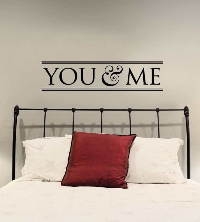 You & Me Vinyl Wall Art Decal by designstudiosigns on Etsy, $35.00