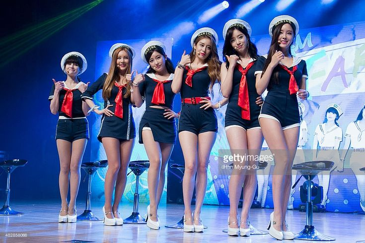 Members of South Korean girl group T-ara attend the press showcase for their 11th Mini Album 'So Good' on August 3, 2015 in Seoul, South Korea.