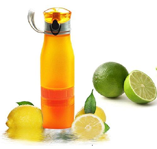 nice Water Bottle Infuser for Making Your Own Refreshing Fruit Infused Drink and Iced Tea, by the Real Zeal. Offers Easy to Use, Leak-Proof, Shatter-Proof Design with Integrated Infuser/Juicer. Ideal for Travel, Sport, Gym, Office and Home. Natural and Healthy, BPA Free, FDA Approved and Dishwasher Safe. Drink in Color!