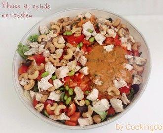 Thaise kip salade met cashew