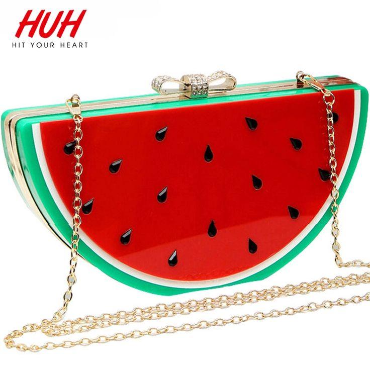 Hit Your Heart New Lemon Watermelon Women Messenger Bags Fresh Chain Bag Hot Women Shoulder Bag Good Quality Lady Clutch LM2563S