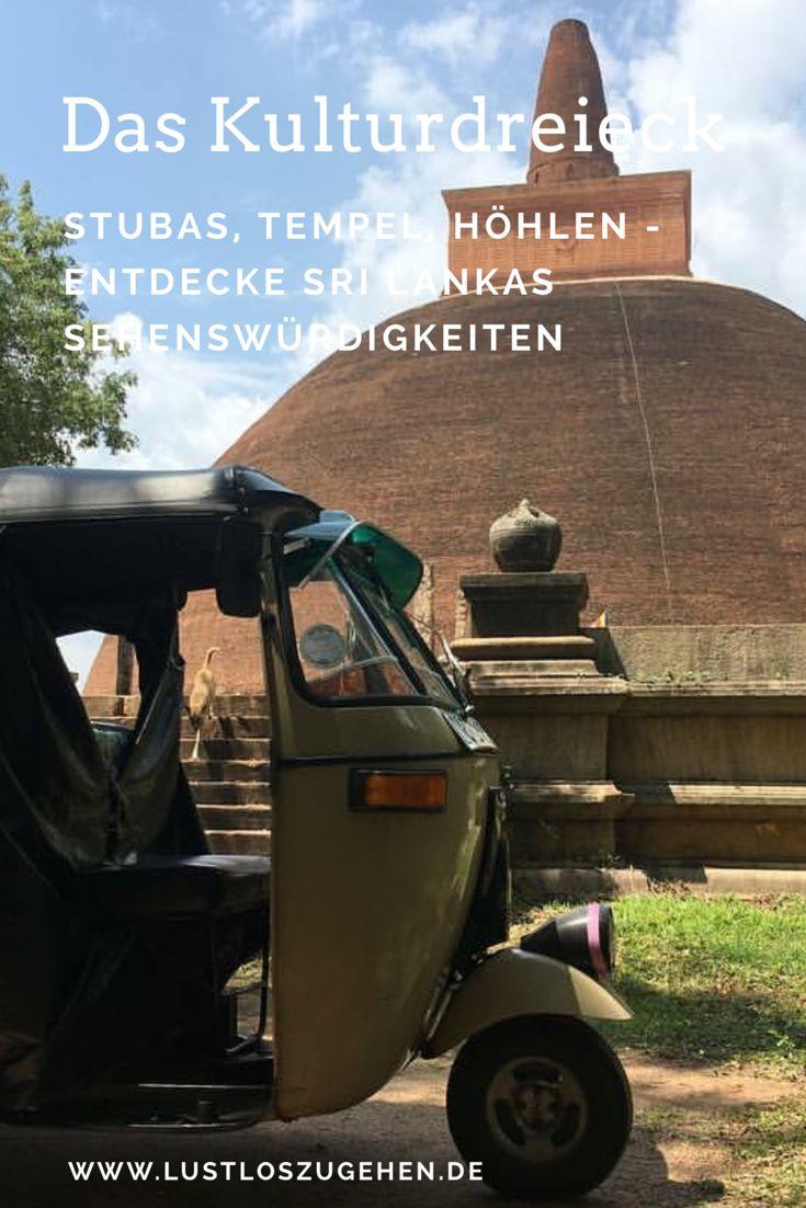 """Wir sind nicht die Reisenden, die jeden Tempel und jede alte Säule sehen müssen. Aber ich liebe es neue Länder zu entdecken und dass Sri Lanka einiges an kulturellen Highlights zu bieten hat wussten wir auch schon vor unserer Reise. Demnach war klar, wir wollen das """"Kulturdreieck"""" definitiv entdecken, alte Geschichten hören und Überbleibsel aus längst vergangener Zeit besichtigen. Seid ihr auch neugierig?"""