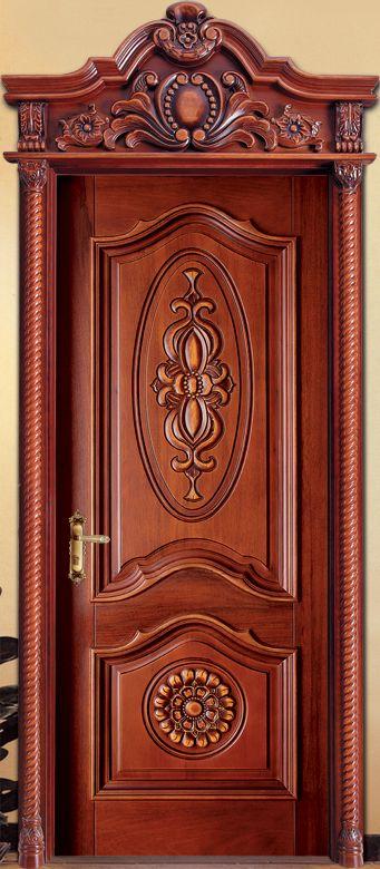 1000 ideas sobre puertas principales de madera en for Puertas interiores de madera con vidrio