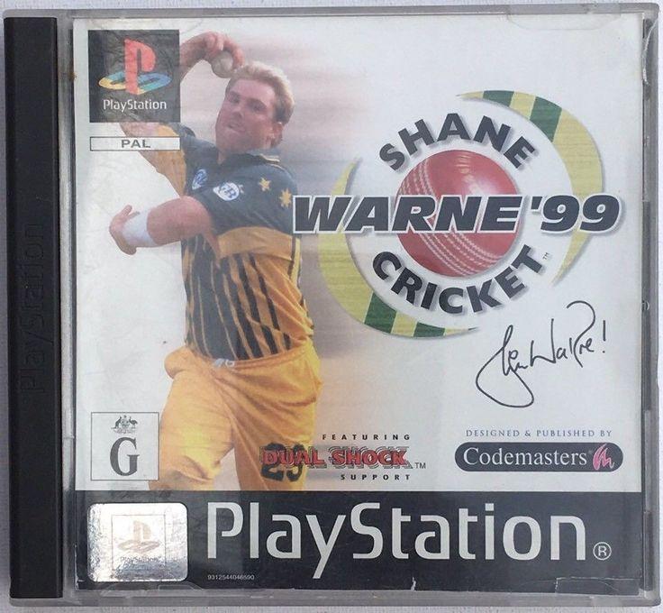 PS1 Playstation Game Shane Warne 99 Cricket