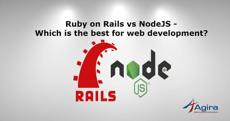 Ruby on Rails vs NodeJS – Which is the best for web development?  #RoR #rubyonrails #developers #nodejs #learnRoR #webdevelopment