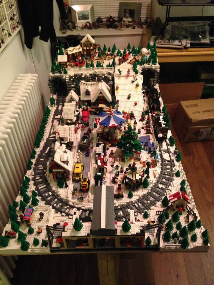 lego winter village landscaping - Google Search