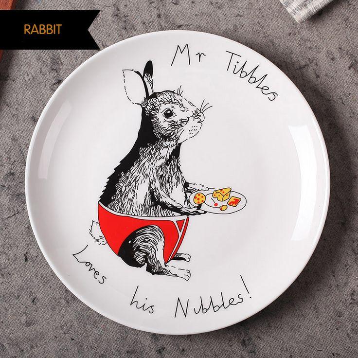 8 дюймовые плоские тарелки из китайского фарфора в европейском стиле с изображением героев мультфильмов тарелки для салата суши тортов ужина