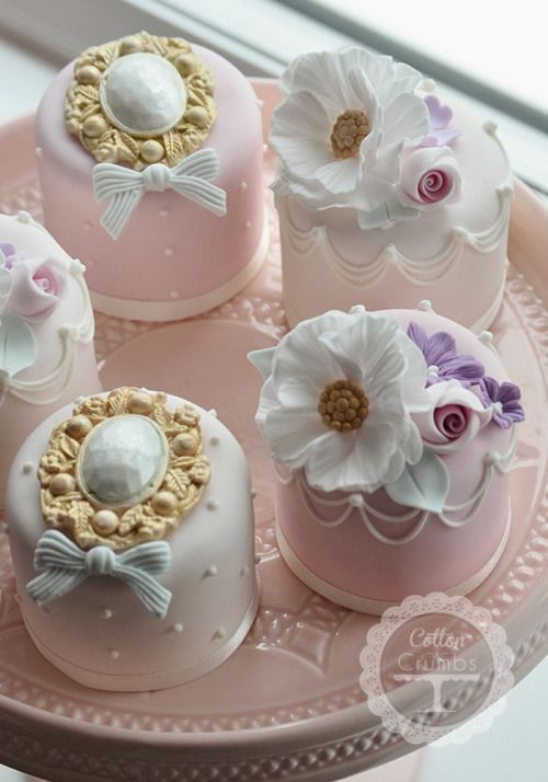 Pretty Cakes for Tea Time.