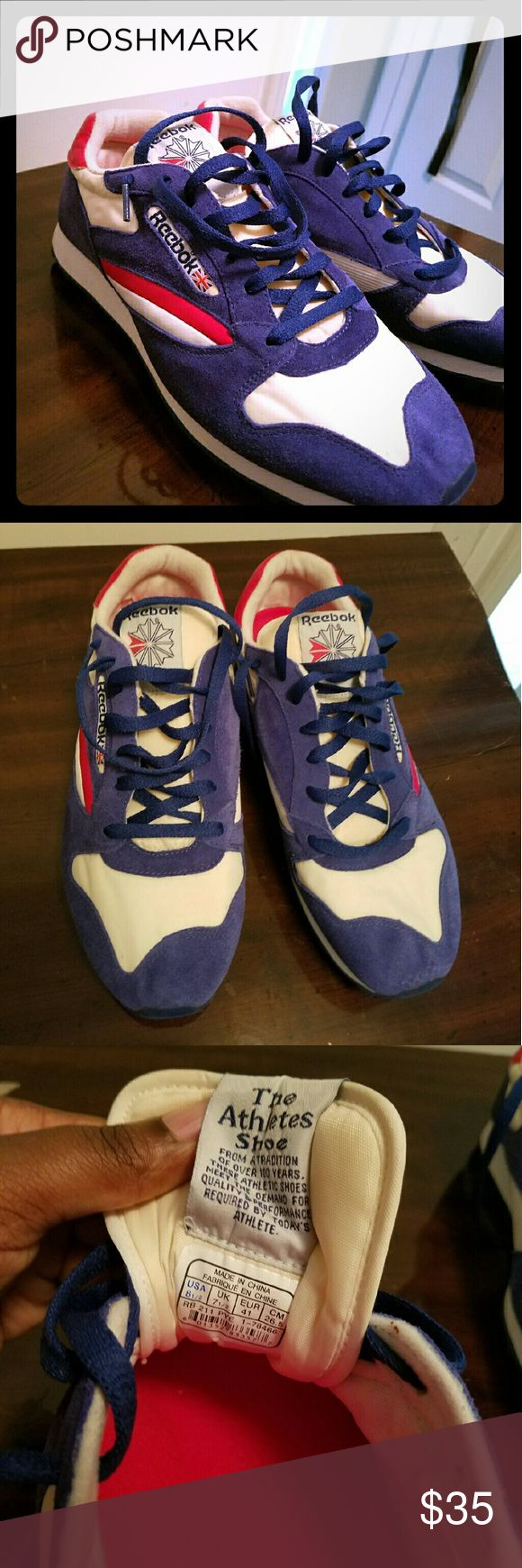 Red White and Blue- Reebok Classics Red White and Blue- Reebok Classics- Barely Worn Reebok Shoes Sneakers