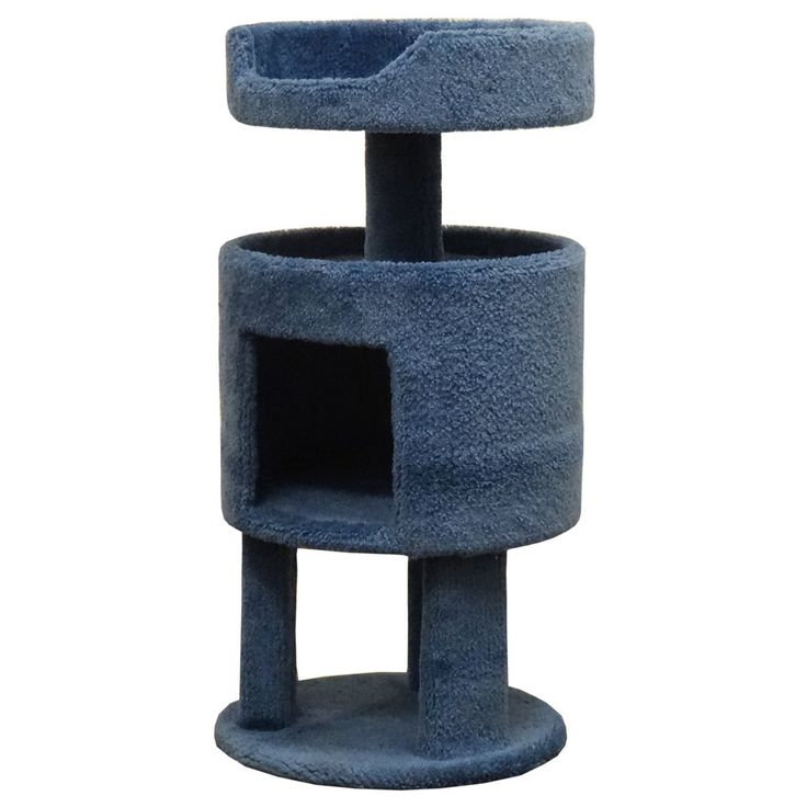 Wood Kitty Condo Carcat Cat Perch, Blue Carcat ** For more information, visit now : Cat Doors, Steps, Nets and Perches