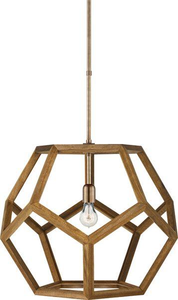 dodecadhedron wood pendant - designer lauren by ralph lauren - via circa lighting