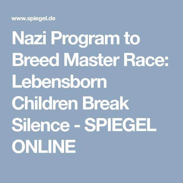 Nazi Program to Breed Master Race: Lebensborn Children Break Silence - SPIEGEL ONLINE