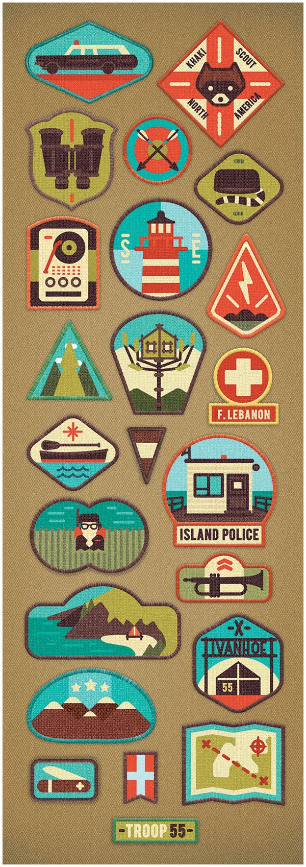 Wes Anderson shoutout!  Little White Lies 50th Edition by MUTI, via Behance