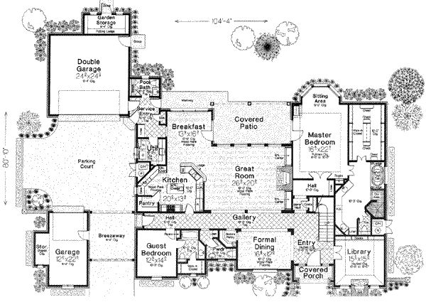 European Style House Plans 5300 Square Foot Home 2