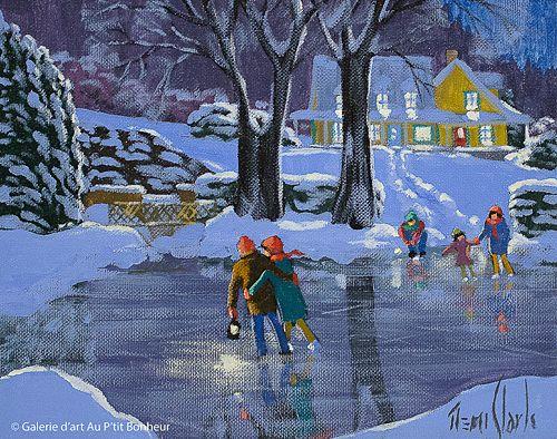 Rémi Clark, 'Soir de pleine lune', 8'' x 10'' | Galerie d'art - Au P'tit Bonheur - Art Gallery